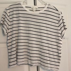 H&M Black and White Stripped Tee